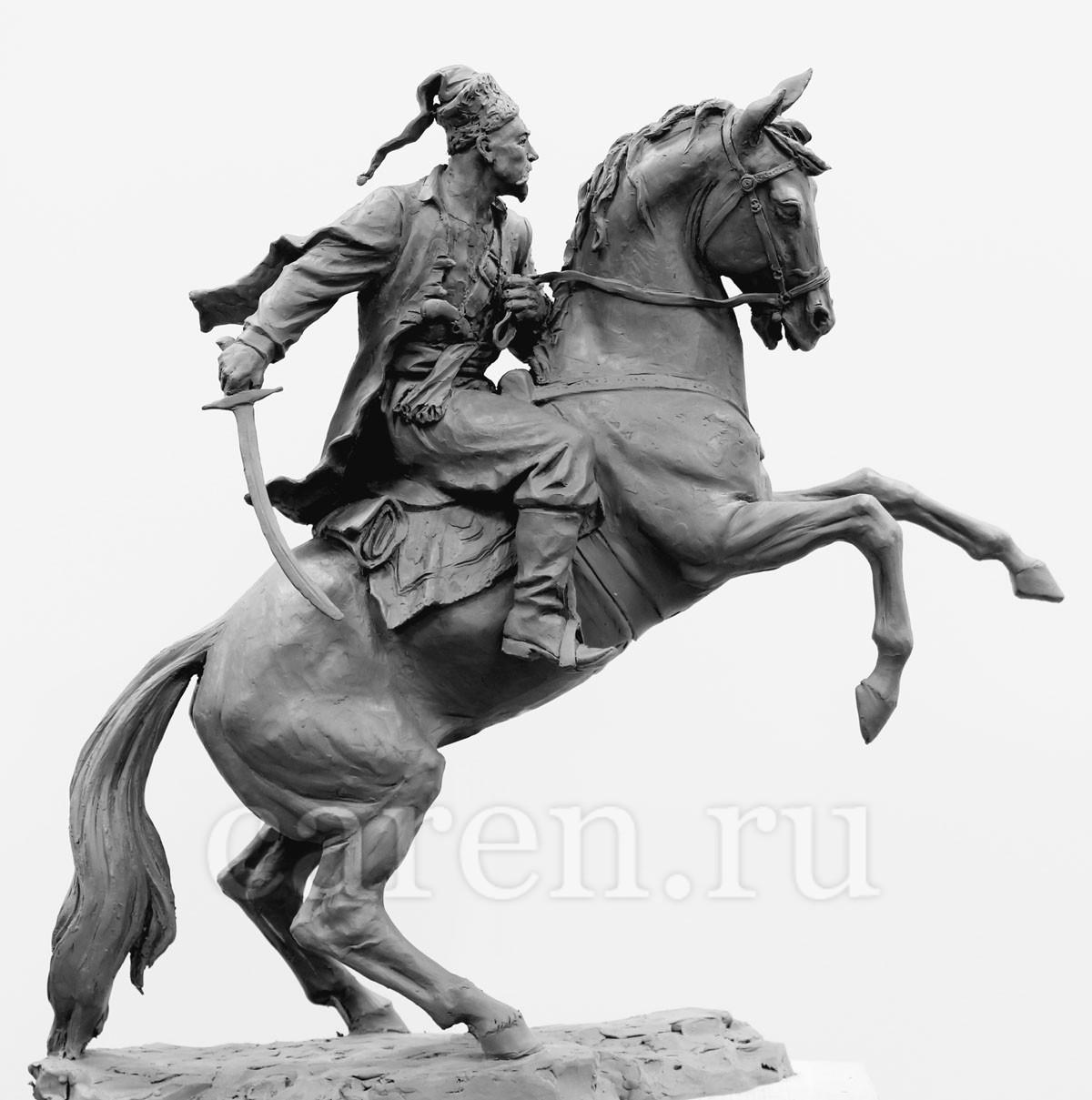"""Скульптурная композиция """"Cossack"""""""