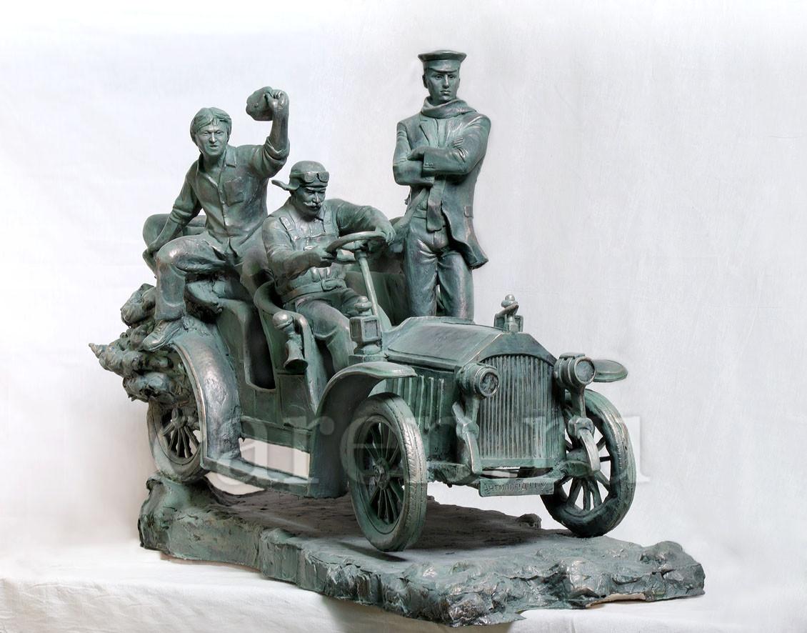 """Скульптурная композиция """"Лед тронулся, господа присяжные заседатели!"""""""
