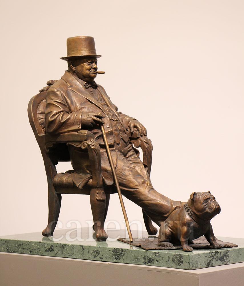 """Скульптурная композиция """"Уинстон Черчилль"""""""