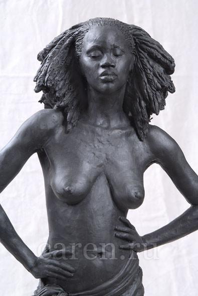 """Скульптурная композиция Ню """"Африканский полдень"""""""