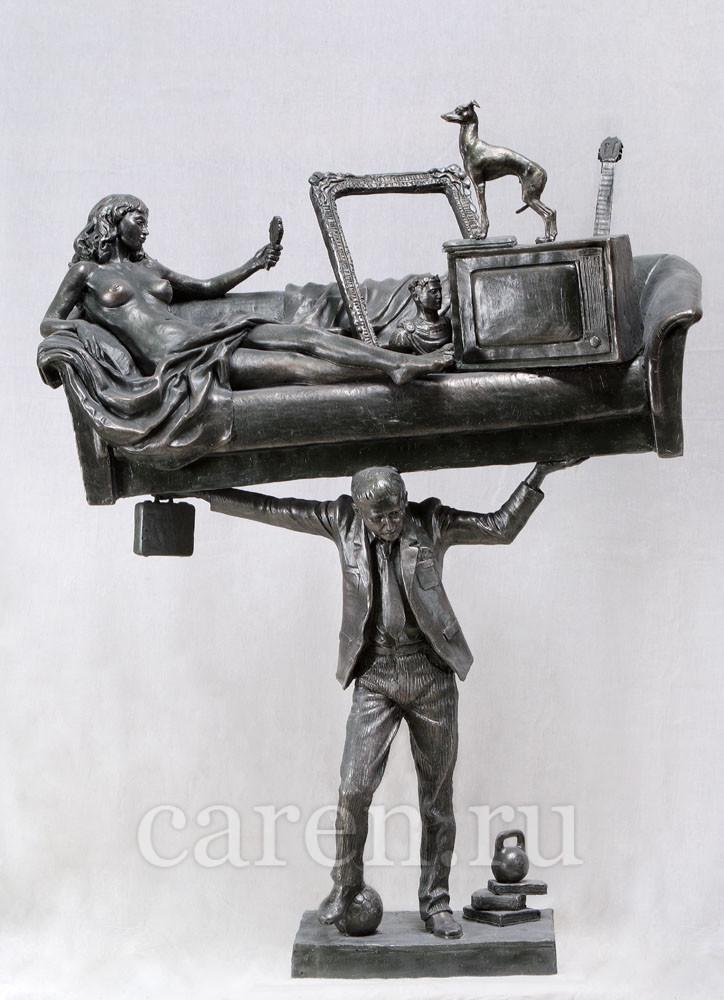 """Скульптурная композиция """"Современный Атлант"""""""
