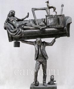 Скульптурная композиция Современный Атлант