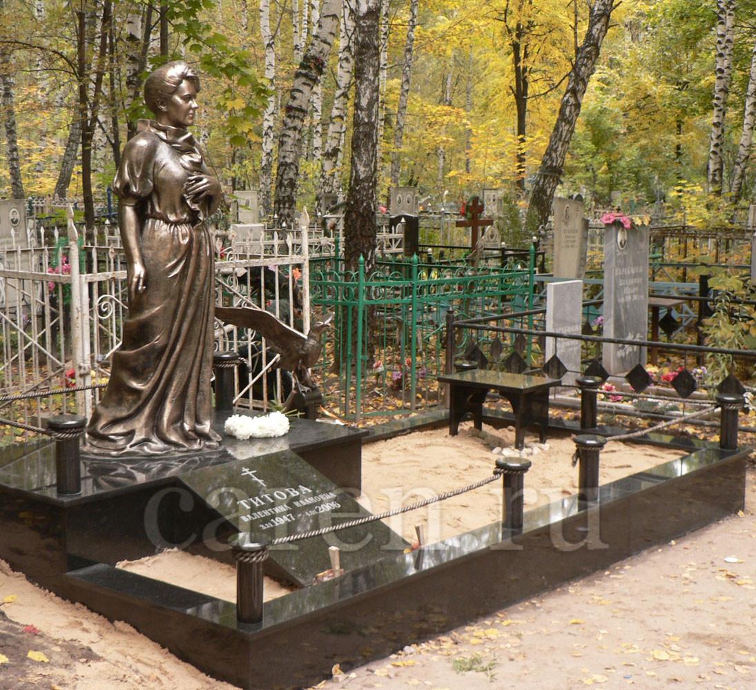 """Надгробие """"V.Titova"""""""