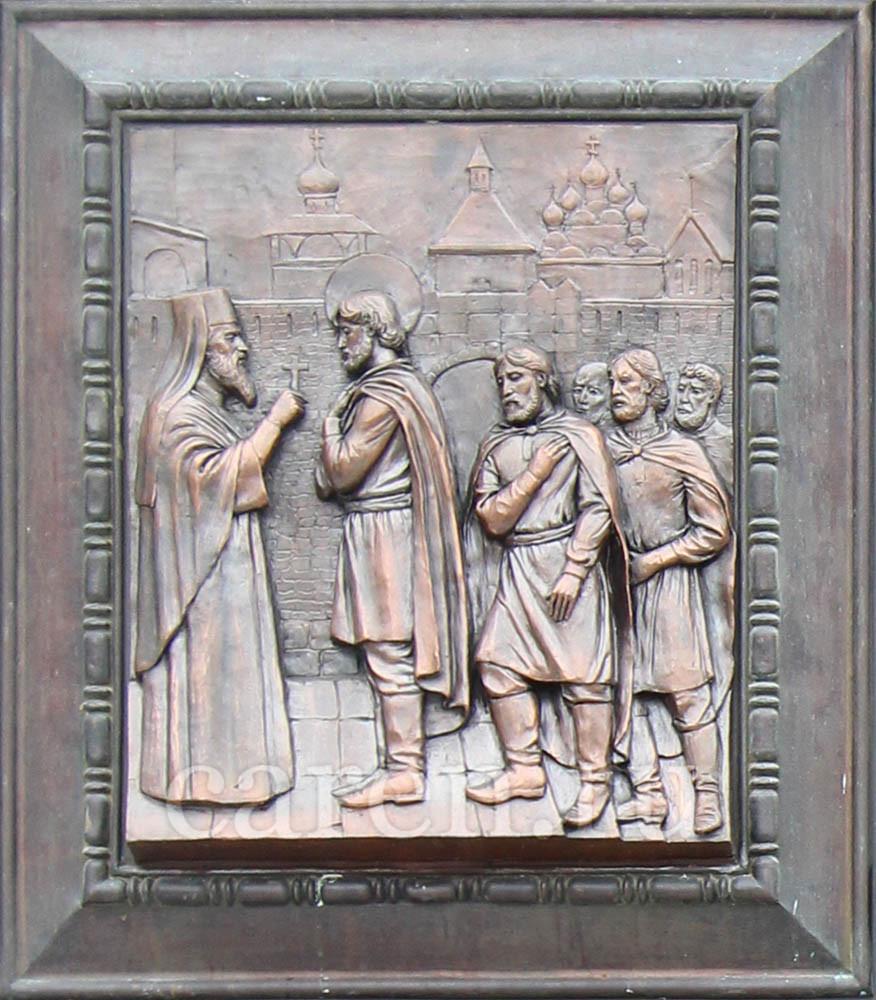 "Рельеф ""Gate of the temple of the Orthodox Prince Saint Igor Chernigovsky"""