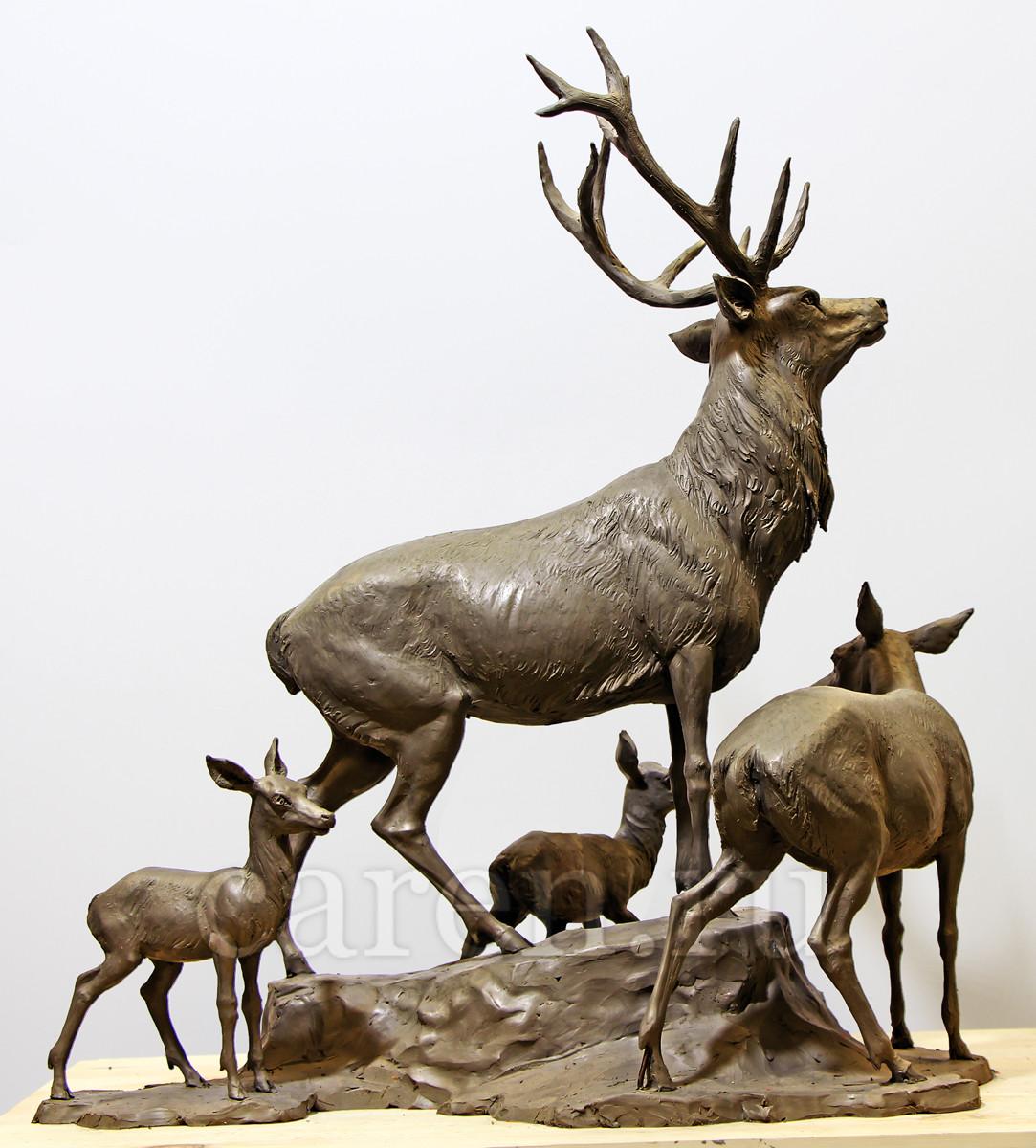 """Скульптурная композиция """"Deers"""""""